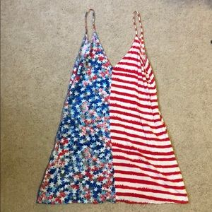 Dresses & Skirts - American flag cover up/dress size m/l